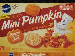 pillsbury halloween sugar cookies. Simple Pillsbury Pillsbury Mini Pumpkin Shaped Sugar Cookies On Halloween Cookies T