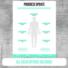Weight Loss And Inches Tracker Printable Weight And Body Measurement Progress Update Etsy