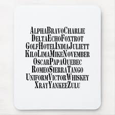 Every symbol has only one pronunciation. Phonetic Alphabet Code Words Mouse Pad Zazzle Com