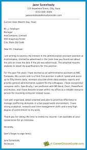 Sample Cover Letter For Executive Assistant Position Office
