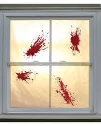 Blutschleim Spritzer 4 St Halloween Fensterdeko Horror Shopcom