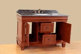 Antique Bathroom Cabinets Bosconi 48 Inch Antique Single Sink Bathroom Vanity Dark