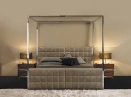 Modern Metal Canopy Bed With Headboards