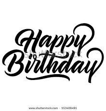 happy birthday design happy birthday vintage hand lettering brush stock vector 553406491