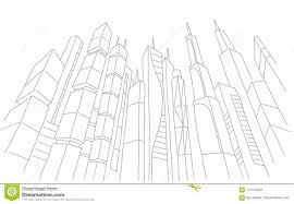 modern architecture skyscrapers sketches.  Modern Download Big City Skyscraper Sketch Buildings Gray Line Skeleton Strokes Modern  Architecture Landscape Hand Throughout Skyscrapers Sketches