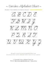 Lowercase Cursive Alphabet Worksheet Upper And Lowercase Cursive Letters Printable Chart Of Accounts