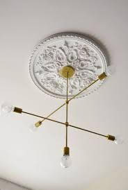 ceiling fans installing medallions yourself fan rosette inch medallion for foam decorative chrome plaster portfolio full