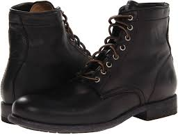 black leather boots frye tyler lace up lace up boots