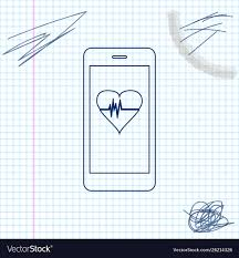 Smartphone With Heart Rate Monitor Function Line