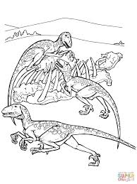 Deinonychus Dinosaur Coloring Page Free Printable Pages And
