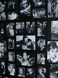 black and white photography collage of old movie stars