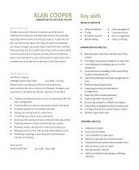 Resume Template For Administrative Assistant Stunning Resume Template Administrative Assistant Samples Free Executive
