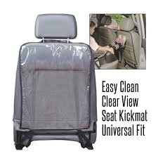 transparent car seat back protector dust proof children kick mat protects from mud dirt waterproof universal car seat covers plastic fabricator