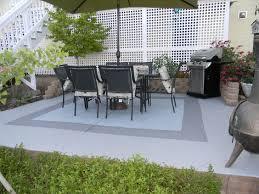 diy paint concrete patio brilliant painted concrete patio ideas how to stain concrete outdoor