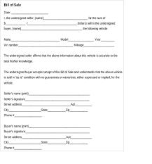 Sample Car Bill Of Sales 6 Free Sample Example Format Download