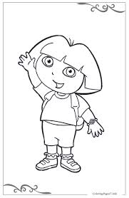 Dora The Explorer Coloring Free Diego Pages For Kids To Print Games