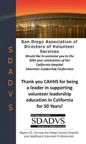 california hospital volunteer leadership conference cottage health system san diego association of directors of volunteer services