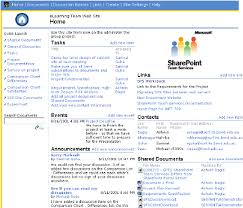 Home Page Of Sharepoint Team Services Site Download