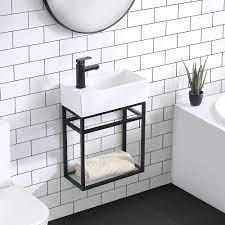 Swiss Madison Pierre 19 5 Single Metal Frame Open Shelf Bathroom Vanity Reviews Wayfair