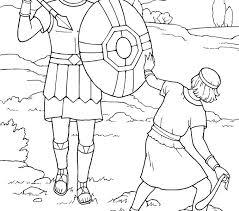 Marvelous David And Goliath Coloring Page E8028 Beautiful David