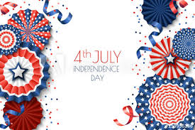 4th Of July Usa Independence Day Vector Banner Template White