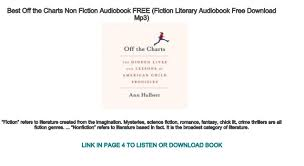 Best Off The Charts Non Fiction Audiobook Free Fiction