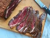 armenian basterma  dried cured beef