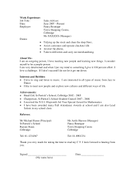 Writing A Cv For High School Students High School Student Resume