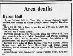 Obituary for Byron Garland Ball - Newspapers.com