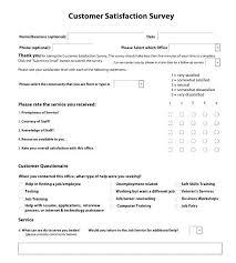 customer service satisfaction survey examples customer service satisfaction survey template free food employee