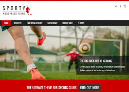 Access 2013 Themes Download Sporty Free Wordpress Sports Theme From Template Express