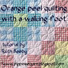 Pippin Sequim: Orange Peel quilting with a walking foot & Orange Peel quilting with a walking foot Adamdwight.com