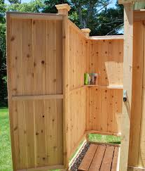 architecture outdoor shower enclosure cedar showers com throughout kits design 7 wood nz cape cod camping