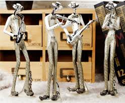 jazz band dolls decoration home 4pcs musician figurines stand