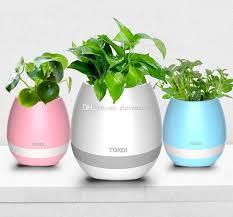 office flower pots. Best Smart Music Flower Pots \u0026 Bluetooth Speakers Home Office Decor Planter Plant Night Light Creative Toys Under $14.58 | Dhgate.Com S