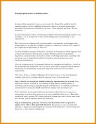 Employee Performance Letter Sample Goals For Executive Assistant Examples 650 837 5