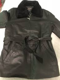 oscar piel leather womans jacket size xl