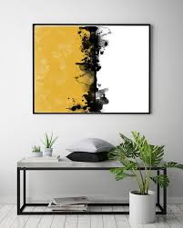 mustard print wall art printable art