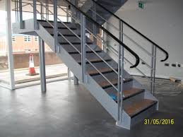 Architectural steel staircase