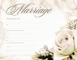 Marriage Certificate Blank Template Free