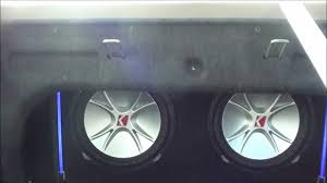 2 12 kicker cvrs wired at 1200 watts loud