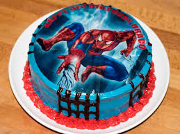 Red Velvet Spiderman Birthday Cake Brianas Kitchen