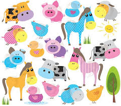 baby farm animals clip art. Delighful Art 22 Cute Baby Farm Animals Clip Art Design Pieces Bright Colors Excellent  For Making  Shower Invitation Cards Birthday Thank In Clip Art M