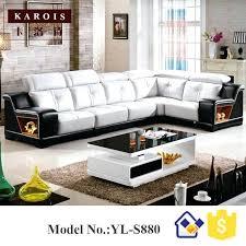 black sofa set u shape black match white genuine sectional leather sofa set china leader living black sofa set