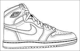 Nba Shoes Coloring Pages At Getdrawingscom Free For Personal Use