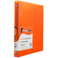 3 4 Inch Binders Jam Paper Plastic 3 Ring Binder 3 4 Orange Sold Individually
