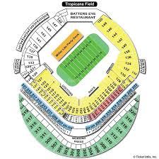 Tropicana Field Seating Chart View Tropicana Field St Petersburg Fl Seating Chart View