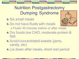 30 nutrition postgastrectomy dumping syndrome