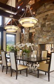Gorgeous Dining Rooms With Stone Walls - Designer dining room
