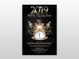 Poster Templet 2019 New Year Eve Free Psd Flyer Template By Pixelsdesign Net